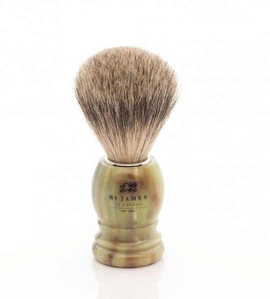 Super Badger Shaving Brush - Malachite
