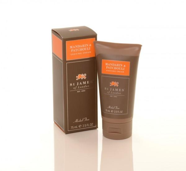 Mandarin & Patchouli Shaving Cream Travel Tube