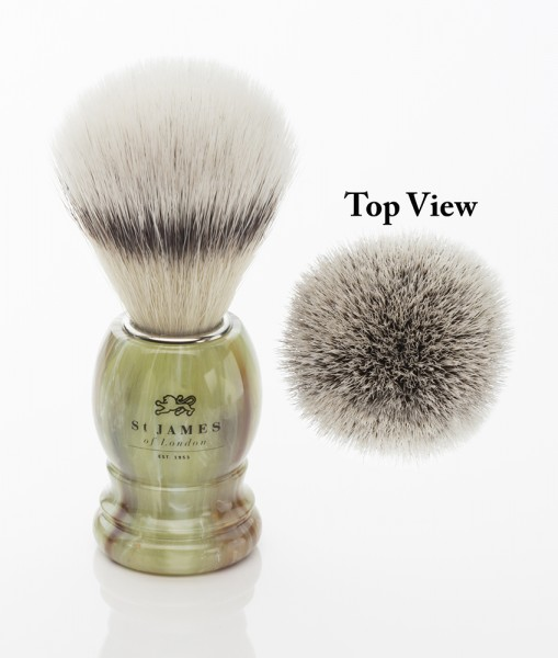 Synthetic Shaving Brush - Malachite