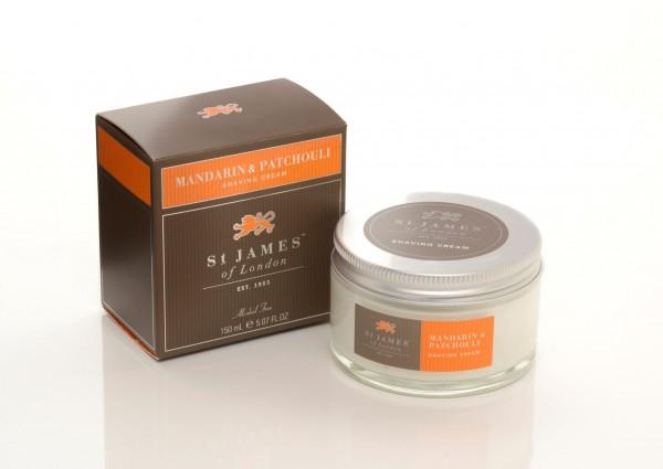 Mandarin & Patchouli Shaving Cream Pot