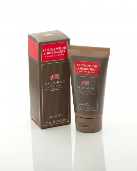 Sandalwood & Bergamot Shaving Cream Travel Tube