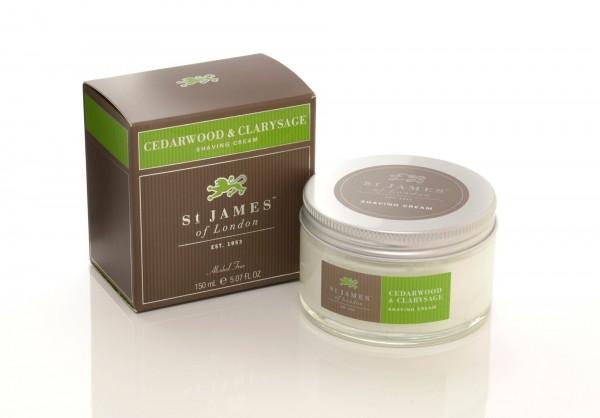 Cedarwood & Clarysage Shaving Cream Jar